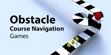 Obstacle course navigation games
